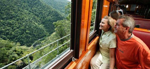 Inside Train - Kuranda Scenic Railway