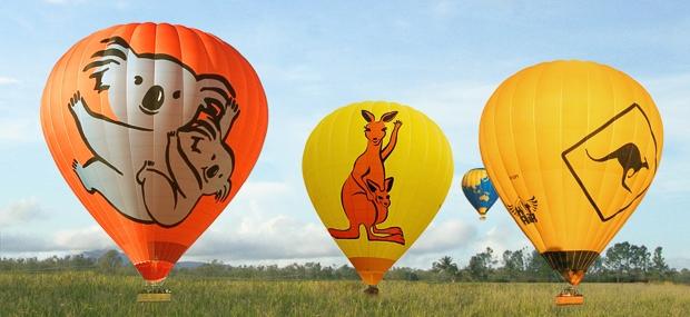 Ballooning with Hot Air Cairns Port Douglas Koala and Kangaroo Balloons wedding