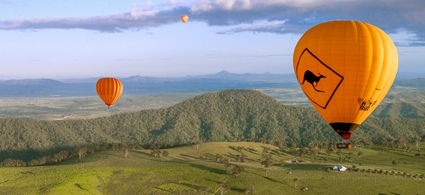 Hot Air Balloon Gold Coast and Witches Falls Cottages Tamborine Mountain Accommodation
