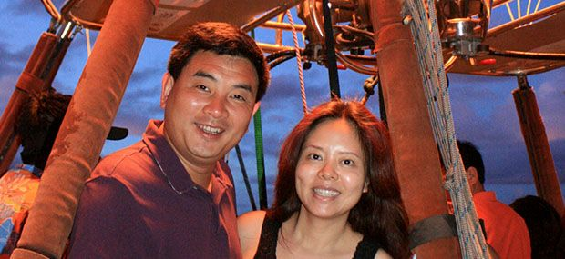 hot air balloon extended flight with breakfast special