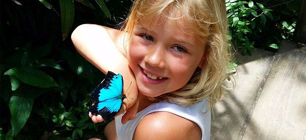 Australian-Butterfly-Sanctuary-happy-little-girl