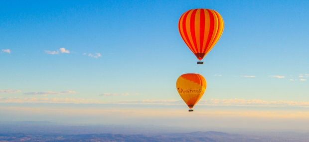Experience a hot air balloon flight for Christmas